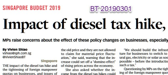 2019-03 BT - Budget 2019 - Diesel Tax - headline